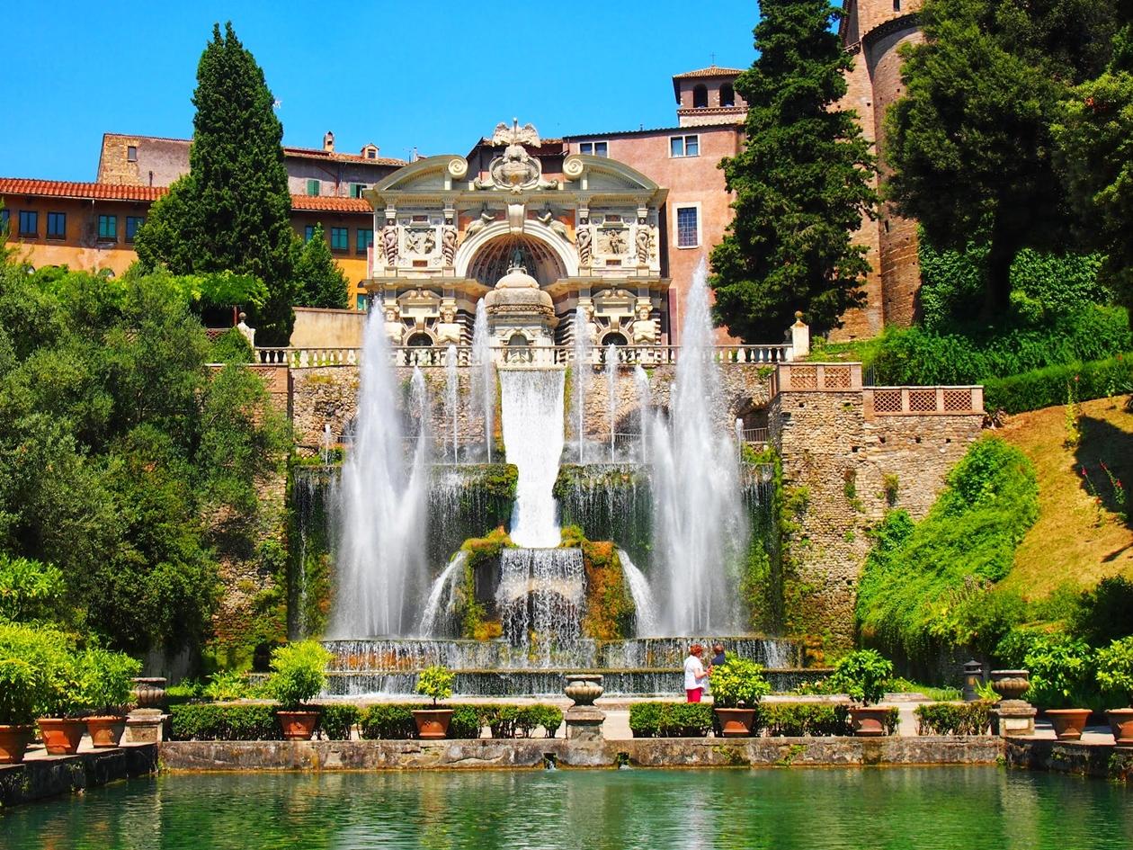 エステ荘の噴水