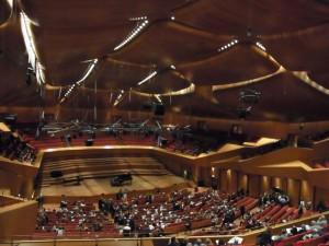 サンタチェチーリア管弦楽団の本拠地。Auditoriumの大ホール。同じ組織なので学校の事務所もここと同じ建物にあります。