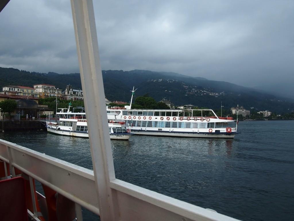 ストレーザから遊覧船に乗って回りました。